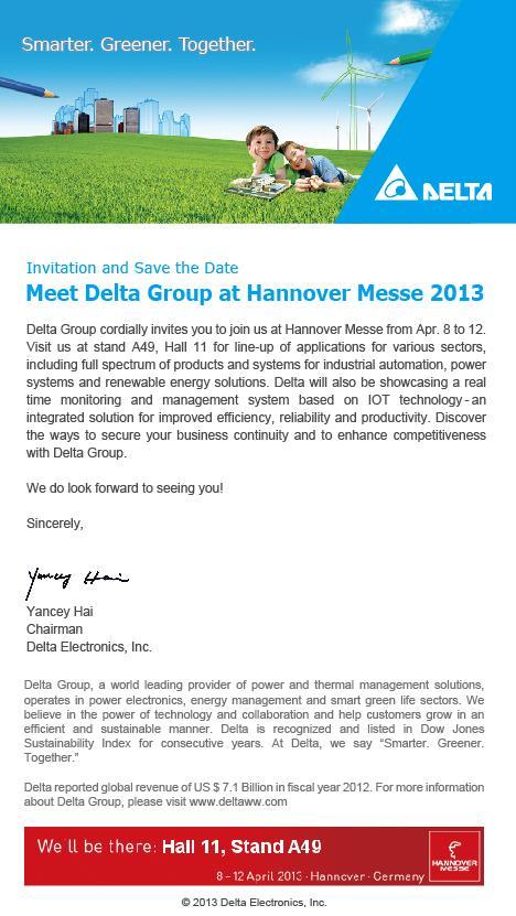 2013 HM - Delta Invitation