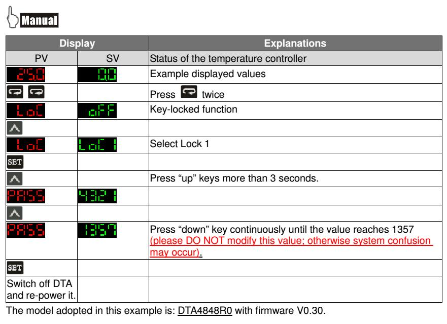Temperature controllers: How to Return to Default settings - Delta Industrial Automation